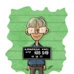 Drawing of Bill Gates mugshot