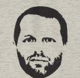 Merritt drawing with beard